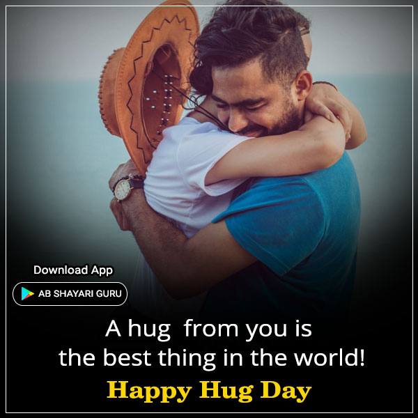 Happy Hug Day Wishes for Girlfriend in English